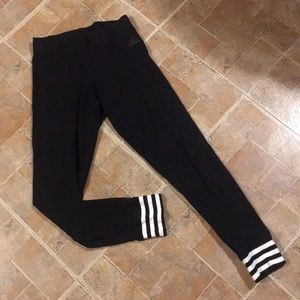 Adidas cropped joggers size women's extra small